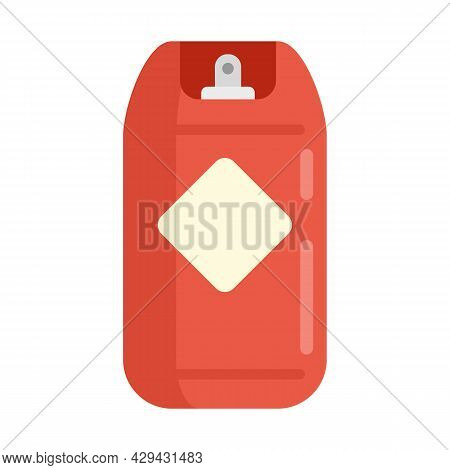 Gas Cylinder Icon. Flat Illustration Of Gas Cylinder Vector Icon Isolated On White Background