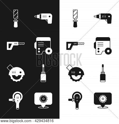 Set Power Electric Generator, Reciprocating Saw, Rasp Metal File, Electric Cordless Screwdriver, Cir