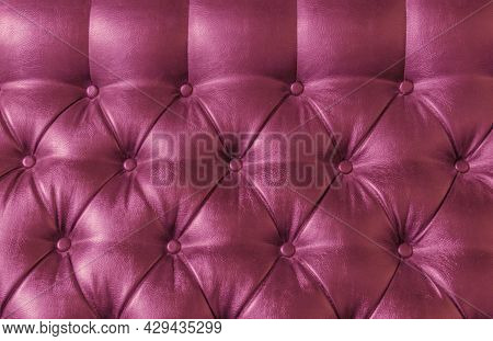 Leather Upholstery Pink Red Purple Lilac Violet Background Sofa Light Shadow