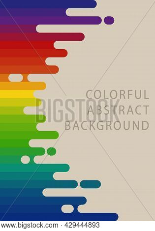 Abstract Background Pattern. Horizontal Stripes Rainbow Gradient Retro Colors. Template Design For P