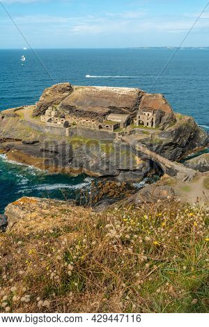 Fort Des Capucins A Rocky Islet With A War Fort, Cliff In The Town Of Roscanvel, On The Crozon Penin