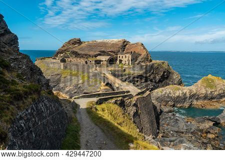 Trail To Fort Des Capucins A Rocky Islet Located In The Atlantic Ocean At The Foot Of The Cliff In T
