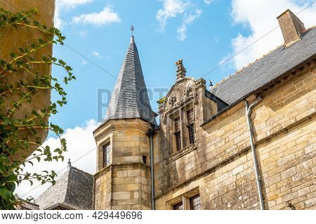 Church Of The Medieval Village Of Rochefort-en-terre, Department Of Morbihan In The Brittany Region.
