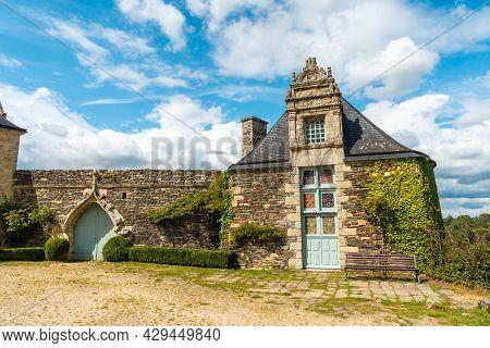 The Beautiful Castle Park Rochefort En Terre In The Medieval Village Of Rochefort-en-terre, Morbihan