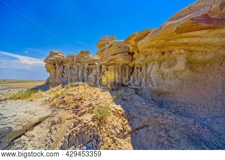 A Cliff Face On The South End Of The Flat Tops In Petrified Forest National Park Arizona That Resemb