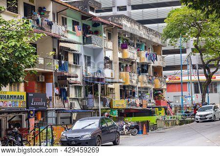 Kuala Lumpur, Malaysia - October 04, 2020: The Dirty Back Roads Of Kuala Lumpur. Behind The Scenes O