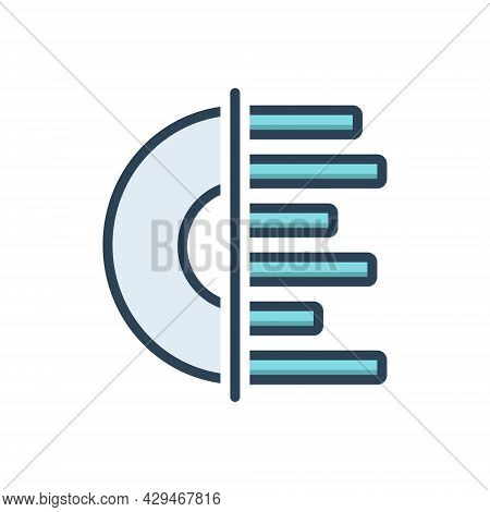 Color Illustration Icon For Record  Turntable Sound Turntable