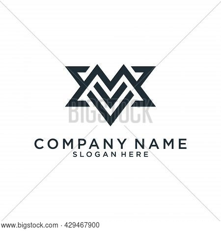 Initial Letter M Icon Logo Design Concept. M Logo Vector For Business And Company Identity.