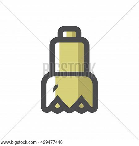 Drill Bit Drilling Equipment Vector Icon Cartoon Illustration