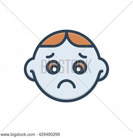 Color Illustration Icon For Sad Worried Sadness Gloomdoldrums Boredom Dispirited Stress Upset