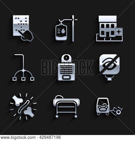 Set Intercom, Stretcher, Disabled Car, Blindness, Joint Pain, Knee Pain, Walking Stick Cane, Medical