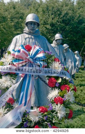 The Korean War Veterans Memorial in Washington DC USA
