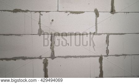 White Brick Wall Texture Background For A Block Of Stone Tiles. White Block Wall. White Blocks.