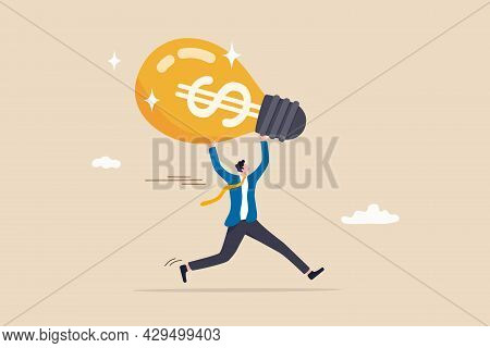 Make Money From New Idea Or Profit From Investment, Creativity Or Innovation To Increase Earning Gro