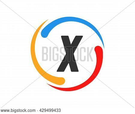 Technology Logo Design With X Letter Concept. X Letter Technology Logo