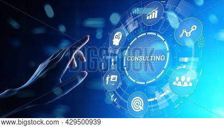Business Consulting Concept On The Virtual Screen