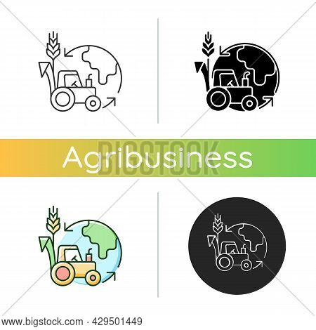 Environmental Sustainability In Agriculture Icon. Healthy Ecosystem And Soil. Avoid Negative Impact