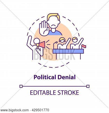 Political Denial Concept Icon. Ethical Responsibility. Green Development. Climate Change Deniers Arg