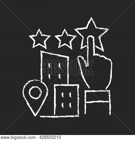 Goodwill Chalk White Icon On Dark Background. Company Purchase. Intangible Business Asset. Sum Of Th