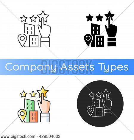 Goodwill Icon. Company Purchase. Intangible Business Asset. Sum Of The Net Fair Value. Enterprise Qu