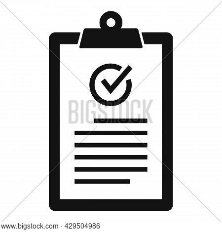 Quality Clipboard Icon Simple Vector. Checklist Check. Customer Survey