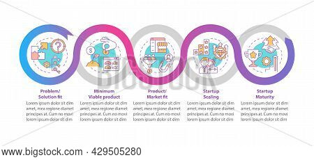 Startup Lifecycle Stages Vector Infographic Template. Business Presentation Outline Design Elements.
