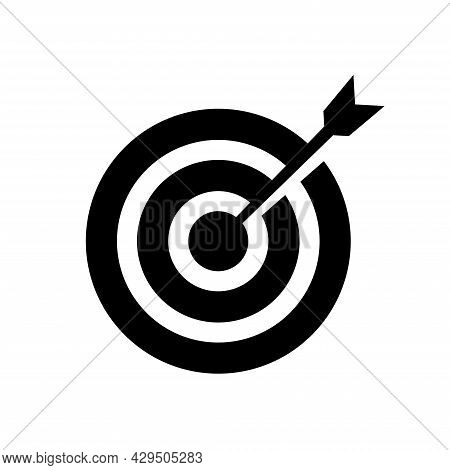 Vector Illustration Of Arrow Icon Hitting The Target. Suitable For Design Element Of Business  Succe