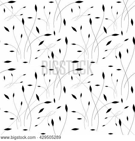 Graceful Twig Sophisticated Seamless Pattern For Textile Or Printing On Paper