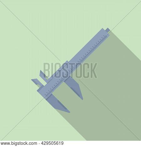 Vernier Caliper Icon Flat Vector. Dial Calliper. Micrometer Tool