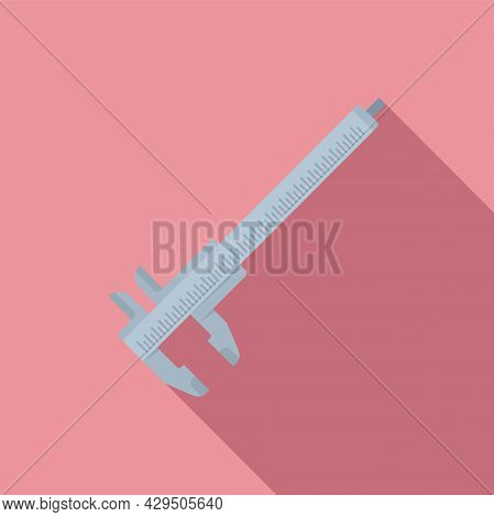 Micrometer Icon Flat Vector. Dial Caliper. Calliper Instrument