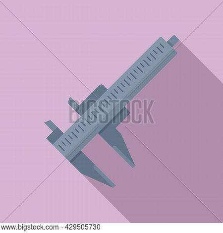 Caliper Tool Icon Flat Vector. Dial Calliper. Micrometer Scale
