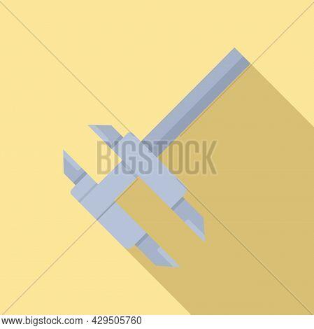 Caliper Measure Icon Flat Vector. Calliper Height. Micrometer Tool