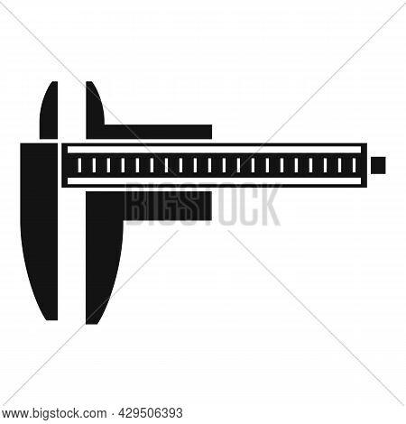 Precision Caliper Icon Simple Vector. Calliper Vernier. Micrometer Measure