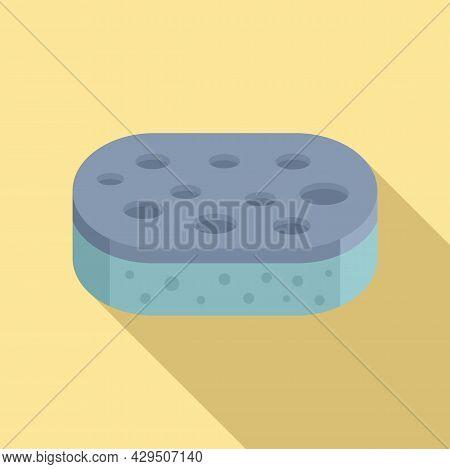 Sponge Icon Flat Vector. Clean Wash. Shower Bath Scrub