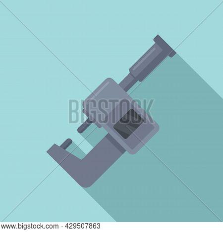 Micrometer Design Icon Flat Vector. Gauge Caliper. Scale Instrument