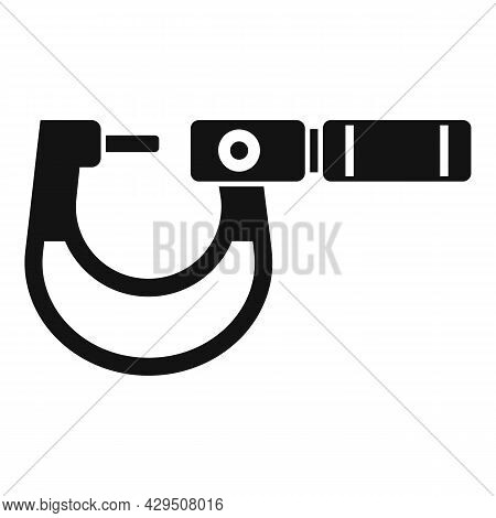 Micrometer Icon Simple Vector. Precision Vernier. Caliper Dimensions