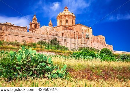 Mdina, Malta - Knights Hospitaller Fortified City, Medieval Capital Of The Island.