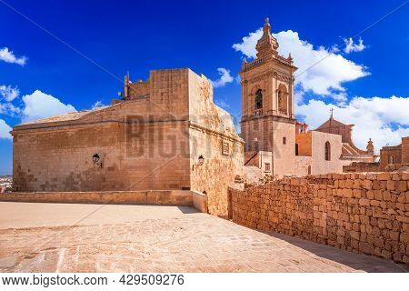 Gozo, Malta - Cittadella Of Victoria And Roman Catholic Cathedral Of The Assumption