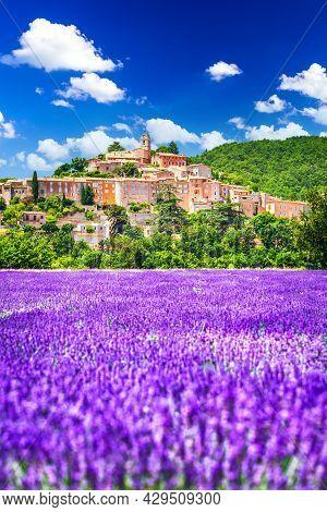 Banon, Provence - Hilltop Village With Lavender Fields In France, Travel Destination Alpes-de-haute-