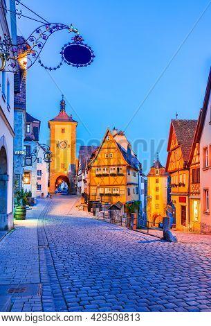 Rothenburg Ob Der Tauber, Bavaria, Germany - Beautiful Postcard View Of Ploenlein With Siebers Tower