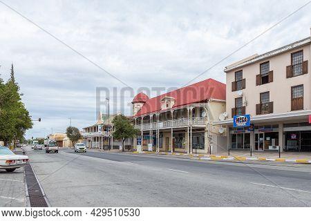 Beaufort West, South Africa - April 2, 2021: A Street Scene In Beaufort West In The Western Cape Kar