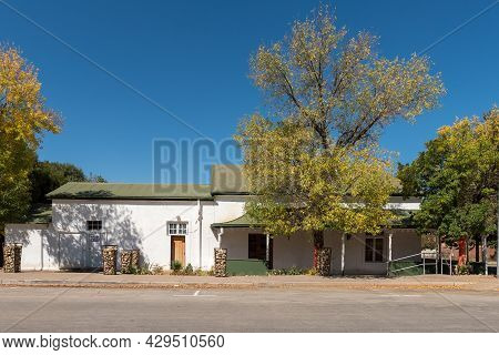 Smithfield, South Africa - April 23, 2021: A Street Scene, With A Building And Trees, In Smithfield