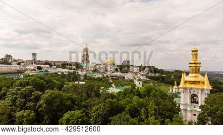 Kiev Overview With Dnieper River And Kiev Pechersk Lavra Or Kyiv Pechersk Lavra, Kyievo-pecherska La