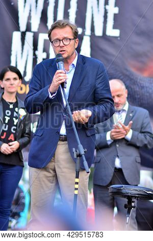Warsaw, Poland. 10 August 2021. Protest To Support Free Media In Poland. Michal Wawrykiewicz - Attor