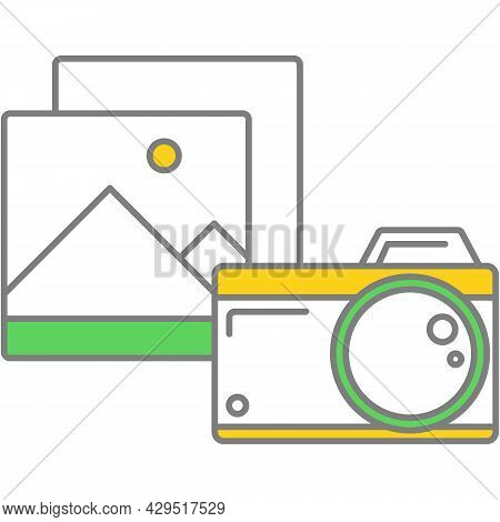 Photo Editor Prototype Icon Vector On White