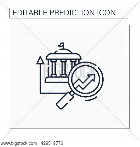 Government Predictive Analytics Line Icon. Detailed Automation Research. Business Predicting Concept