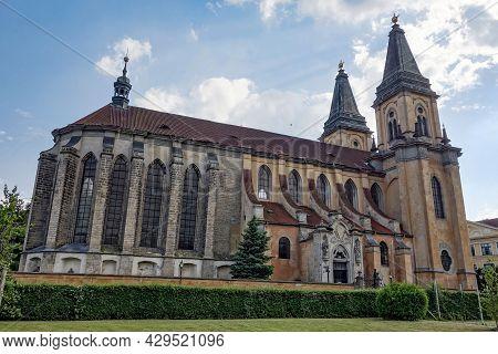 Gothic Kostel Narozeni Panny Marie Church In Roudnice Nad Labem, Czech Republic