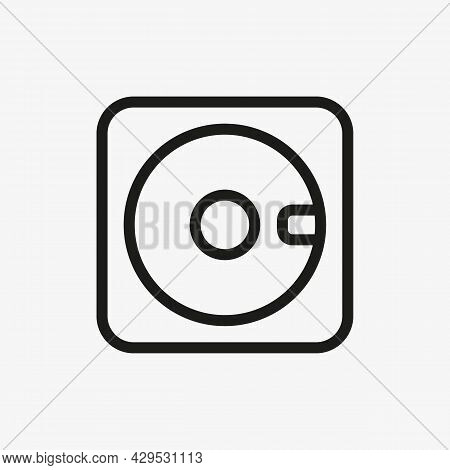Floppy Disk Icon In Line Design Style. Usage For Web And Mobile Ui Design.