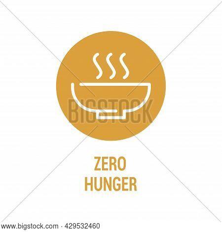 Zero Hunger Color Icon. Corporate Social Responsibility.