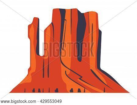 Top Mountain Desert Canyon Peaks Vector Logo Silhouette Illustration. Outdoor Isolated Sun Landscape
